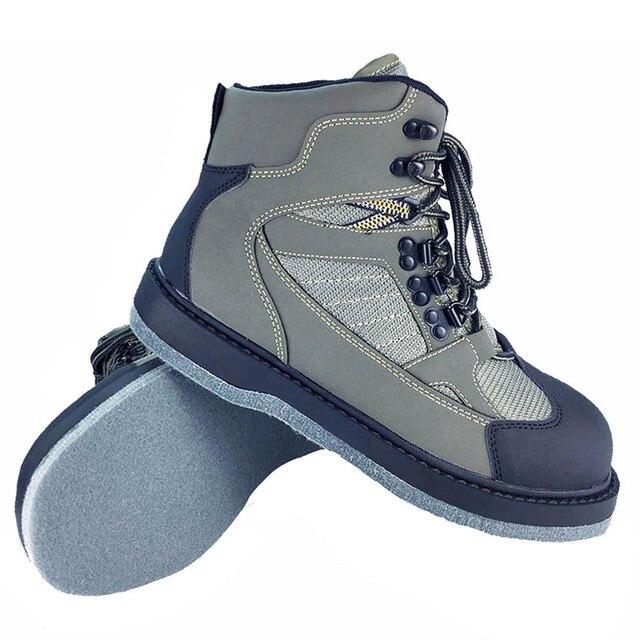 Mosca pesca vadear zapatos Aqua zapatillas de deporte Rock deportes fieltro  botas suela antideslizante de caza 566047ea55ac6