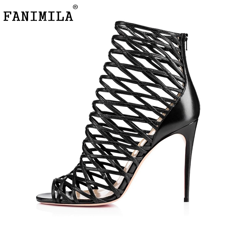 Fashion Star Supermode Sexy Stiletto Gladiator Cut-outs High Heels Sandals Women's Slimmer Heel Party Shoes Size 35-46 B016 fashion star supermode sexy stiletto gladiator cut outs high heels sandals women s slimmer heel party shoes size 35 46 b052
