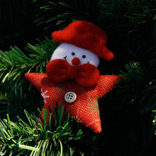 Santa Claus Snowman Reindeer Hanging Ornament Cute Star Shape Christmas Tree Xmas Gift