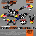 Custom Team Graphics Backgrounds Decals 3M Customized RB Style Sticker Kit For KTM SX F 2003-2017 E XC F W 2004-17 Free Shipping