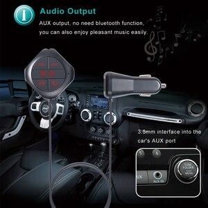 Image 4 - FM الارسال حر اليدين دعوة سيارة المزدوج منافذ USB شاحن سيارة سيارة لاسلكية MP3 لاعب FM المغير دعم TF بطاقة /U القرص