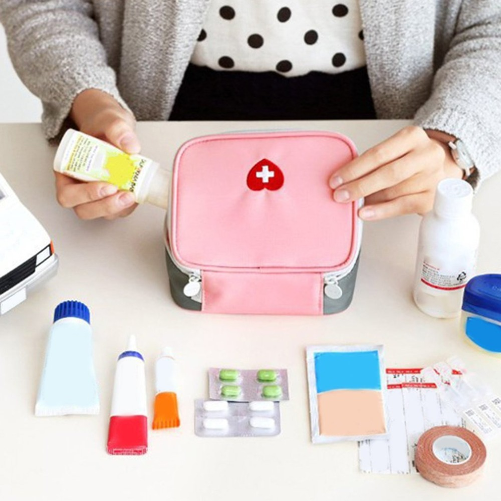 Mini Kit de primeros auxilios al aire libre bolsa de viaje Paquete de medicina portátil Kit de emergencia bolsas de almacenamiento de medicina pequeño organizador