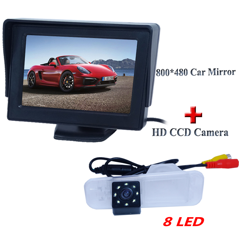 bring wide view lens angle car rear camera with screen display 4 3 black shell car