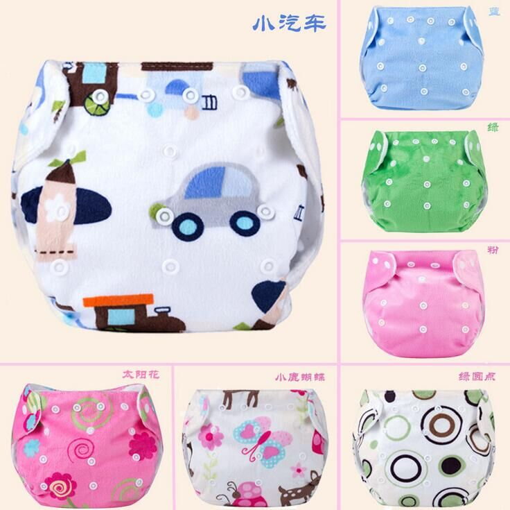 Baby Products Baby Cloth Diapers Washable Diapers Breathable Diapers Anti Pocket Snap Diapers Pants Thick Supersoft Printing #51
