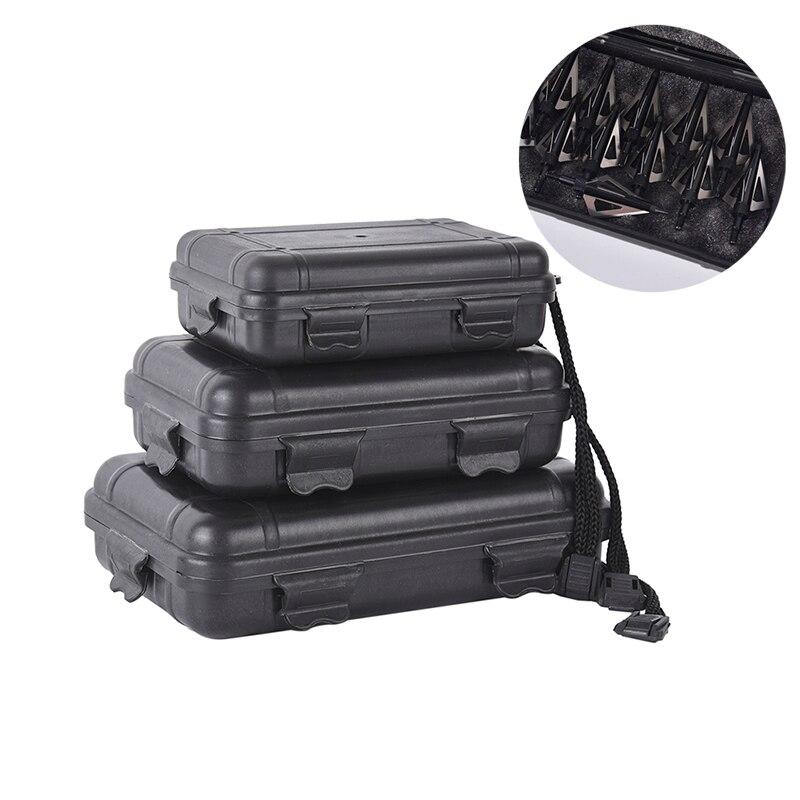 ZSHJG 2Pcs Archery Broadheads Box Portable Foam Padded Storage Box Arrowheads Case Can Hold 6 Broadheads Protector