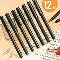 Deli 12 шт. быстросохнущая гелевая ручка с кепкой 0 5 мм  черная ручка для письма  жидкое масло  школьные канцелярские принадлежности  роскошный ...