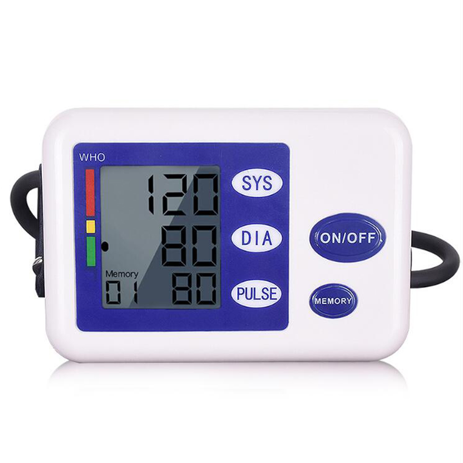 Arm Blood Press Intelligent Automatic Electronic Sphygmomanometer Home Arm English Pressure Measuring Instrument LED Display