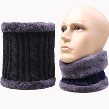 Men Winter Warm knitted mink Neck Scarf Women Children Boys Scarf male Thickened Wool fur Collar Scarves Lic Girls Cotton Unisex(China)