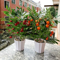 Home decoration fruit simulation bonsai simulation decoration artificial flowers fake green potted plant decorations