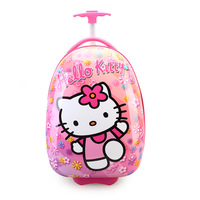16 Inch Kid's Lovely Travel Luggage, Children Hello Kitty Trolley Luggage with Universal Wheel Yellow Blue Pink Suitcase