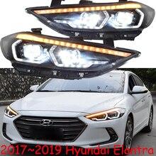 Conjunto de faros LED para coche Elantra, Hyundai 2017 2018, DRL, Bi Xenon