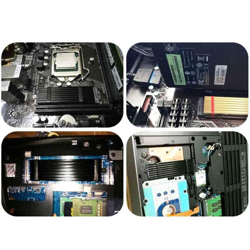 N80 NVMe NGFF M.2 2280 PCIe SSD Làm Mát Nhôm Tấm Tản Nhiệt Nhiệt Miếng Lót Tản Nhiệt Tản Nhiệt
