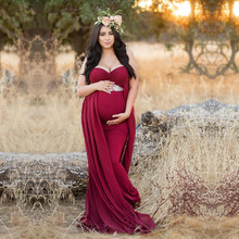 Maternity Cotton Dresses Maternity Photography Props Sleeveless Sexy Plus  Size Maternity Gown Mermaid Style Baby Shower 7c3d26d4a7d2