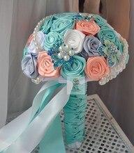 Handmade wedding flower groom holding flowers cloth accessories holding flowers