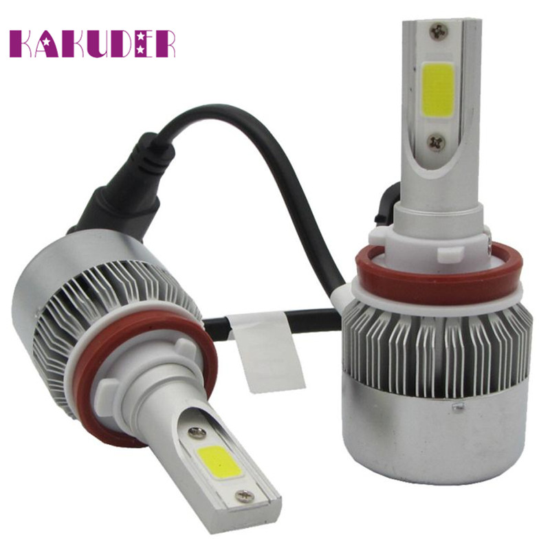 Headlight Conversion Kit H11 110W 7600LM LED  Car Beam Bulb Driving Lamp 6000K Ligero Luz quality new fashion 17may26 pretty h7 110w 20000lm led headlight conversion kit car beam bulb driving lamp 6000k fe15