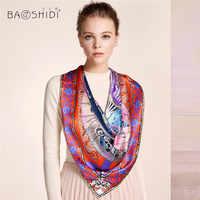 [Baoshidi] 2016秋新しい到着、16オス/オス100%シルクスカーフ、無限大106*106スカーフ女性、高級ブランドのスカーフ、ショールヒジャーブ女性