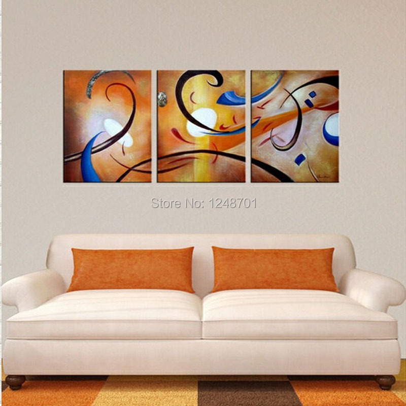 3 Pcs Modern Abstract Oil Painting Contemporary Wall Art Large Art ...