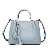Famous Brands Designer Handbags High Quality Fashion Women S Genuine Leather Handbags Tassel Vintage Women Messenger