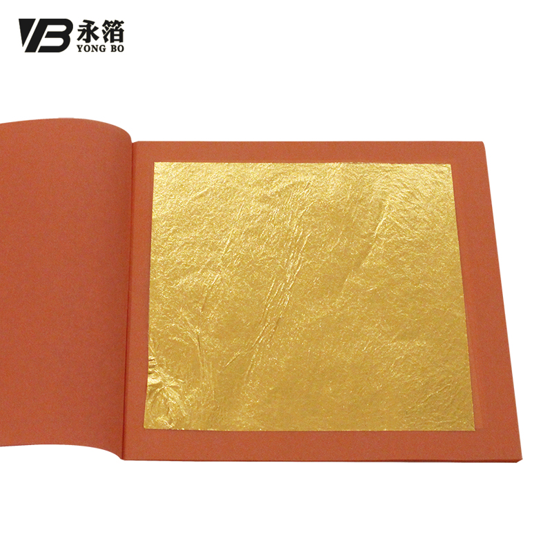 25 Leaves / Per Booklet Foil, 24K Pure Genuine Edible Gold Leaf Sheet 99.99% Gold Good Quality,  8 X 8cm  Free Shipping