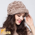 Lady Elegant Pineapple Pattern Plush Hat Lady Bailey Warm Winter Fashion Hat  Winter Warm Hat  B-0699