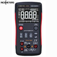 Botón multímetro Digital RM409B True-RMS 9999 cuentas con gráfico de barras analógica amperímetro de voltaje CA/CC corriente Ohm