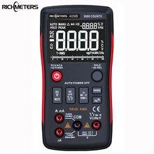 RICHMETERS RM409B True-RMS цифровой мультиметр Кнопка 9999 отсчетов с аналоговым барным графиком AC/DC Амперметр напряжения Ток Ом