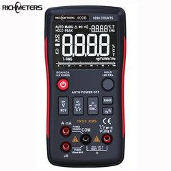 RICHMETERS RM409B True-rms Dijital Multimetre Düğme 9999 Sayım Analog çubuk LED AC/DC Gerilim Ampermetre Akım Ohm