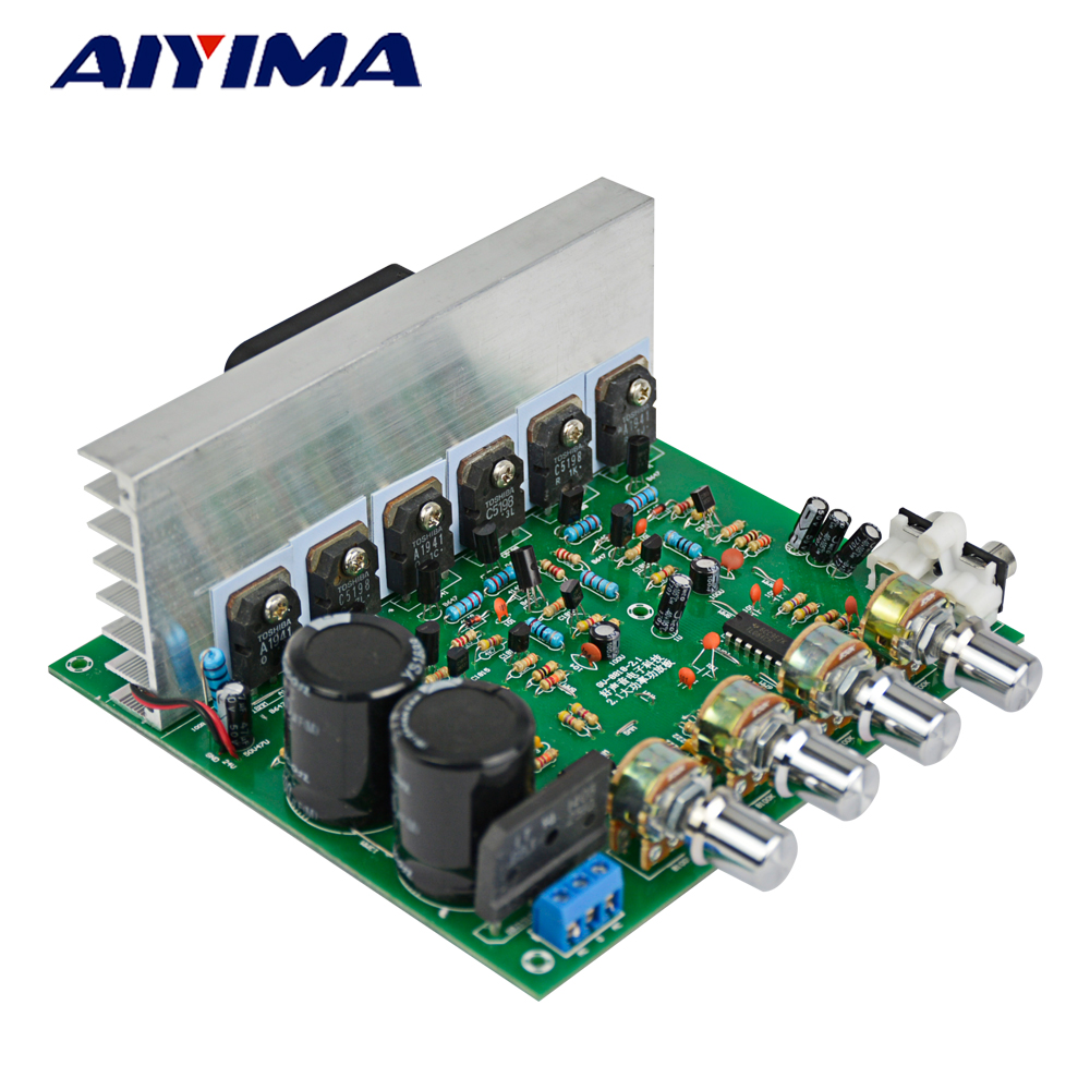 AIYIMA Double 15-28V AC High Power Deep Bass 2.1 Amplifier 3 Channel Subwoofer Professional Amplifier Board 4 1 channel lm4780 amplifier finished board ac 24v 28v 4x68w 130w subwoofer