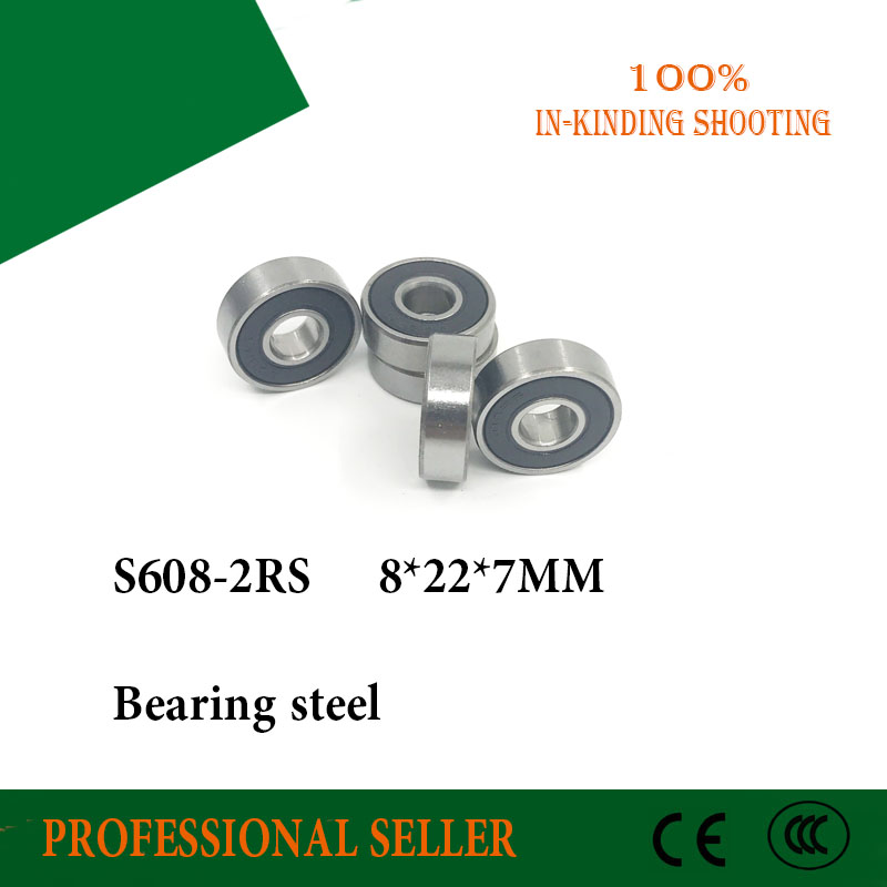 Free Shipping 608 ceramic bearings 8*22*7mm 2pcs/lot 608 2RS bearing CB T9H steel hybrid ceramic ball bearings все цены