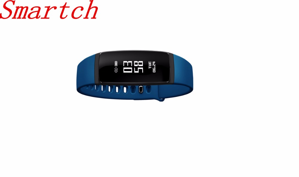 Smartch V07 Smart Band Wristband Heart Rate Blood Pressure Pedomet Bracelet Fitness SMS Alert For iOS