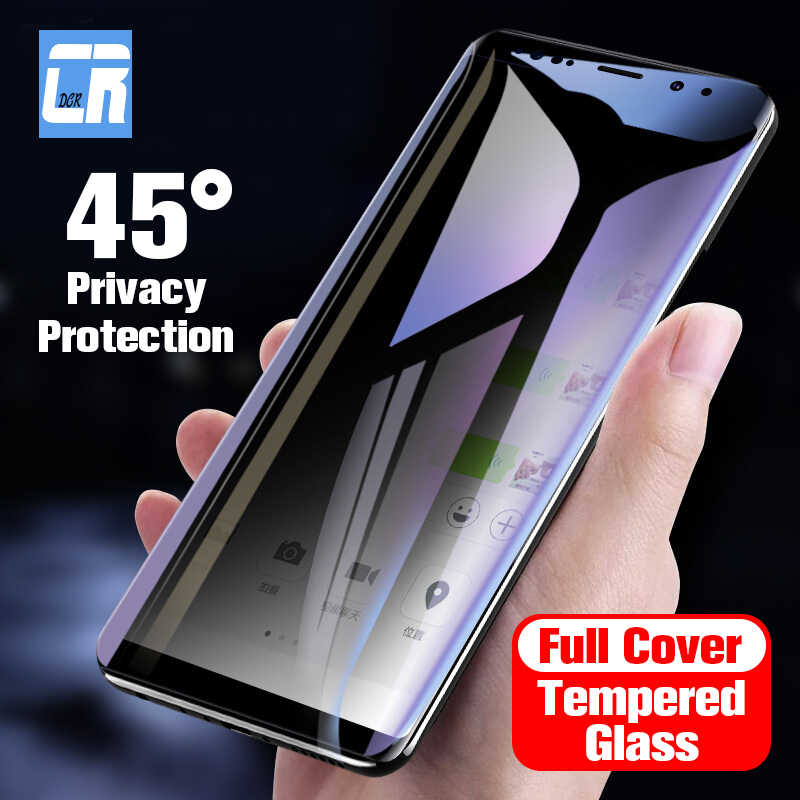 3D Curved Privacy Protection Film Tempered Glass for Samsung Galaxy S8 S9 Plus Anti Spy Screen Protector for Samsung Note 8 9