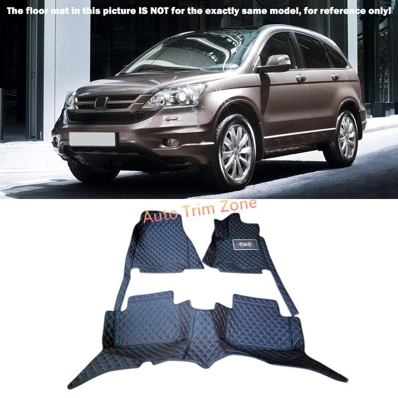 Black Interior Floor Mats & Carpet Foot Pad For Honda CR-V CRV 2007-2011 accessories for dodge journey fiat freemont 7seats jc 2010 2017 2015 2016 inner floor mats foot pad car leather carpet kits