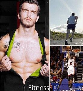 Image 2 - NINGMI גברים סאונה אפוד הרזיה מותניים מאמן גופייה Neoprene רזה גוף Shaper זכר אימון מחוך דחיסת Shapewear רצועה
