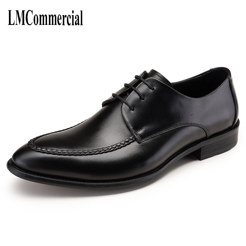 new business mens shoes pigs leather spring and autumn all-match cowhide Lace-Up Business Men Shoes,Men Dress Shoes,new business mens shoes pigs leather spring and autumn all-match cowhide Lace-Up Business Men Shoes,Men Dress Shoes,