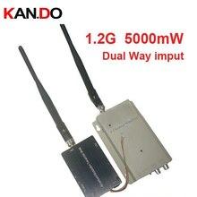 drone FPV 5W video imput 1.2G transceiver 1.2G Video Audio Transmitter Receiver 1.2G CCTV transmitter av trasnmitter