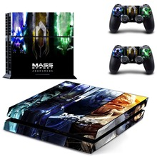 Game Mass Effect Andromeda PS4 Skin Sticker Decal Vinyl for Playstation 4 Console and 2 Controllers PS4 Skin Stickers
