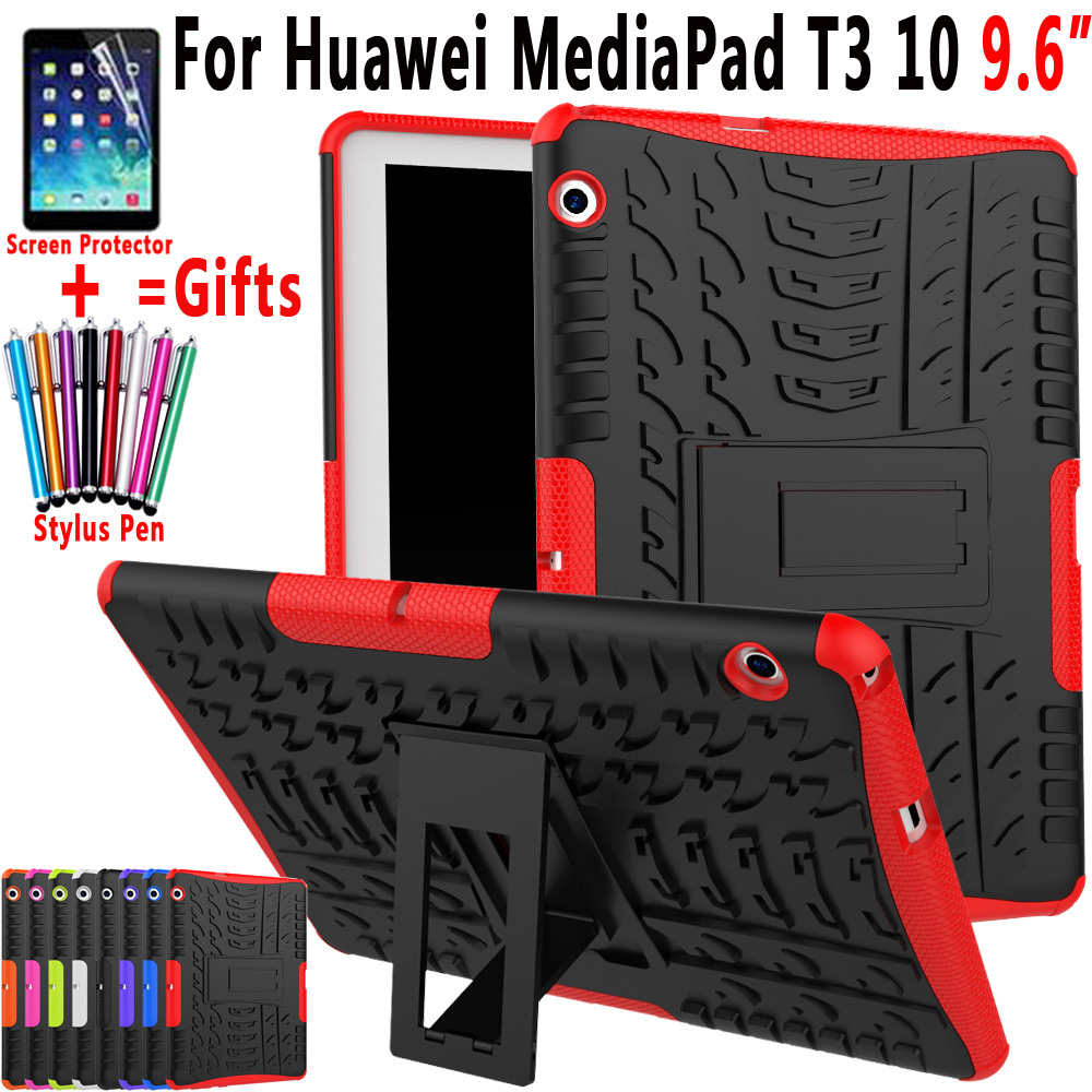 Case for Huawei Mediapad T3 10 9.6 inch AGS-L09 AGS-L03 AGS-W09 Cover Heavy Duty 2 in 1 Hybrid TPU Silicon PC Coque Capa Funda for huawei mediapad t3 7 0 wifi case soft silicone case cover for huawei mediapad t3 7 0 bg2 w09 7 inch tablet pc gifts