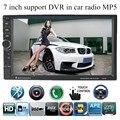 2 din 7 дюймов Автомобиля Bluetooth MP4 MP5 радио Плеер С Сенсорным экран Камеры Заднего Вида Ауксина DVR входного Видео FM/TF/USB/10 языки меню