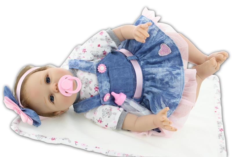 NPKCOLLECTION 22 Pulgadas 55 cm Reborn Baby Doll Realista Recién - Muñecas y accesorios - foto 5