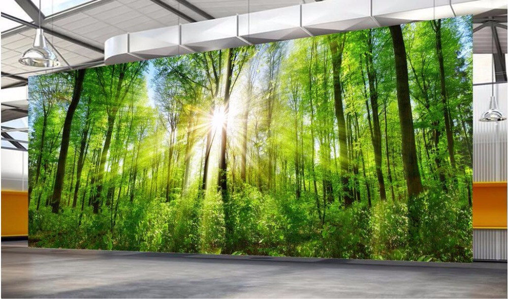 Custom mural 3d wallpaper forest landscape of sunshine photo wall paper decor painting 3d wall murals wallpaper for walls 3 d custom 3d photo wallpaper for walls 3 d wall murals wallpaper 3d european style white building palace living room tv wall paper