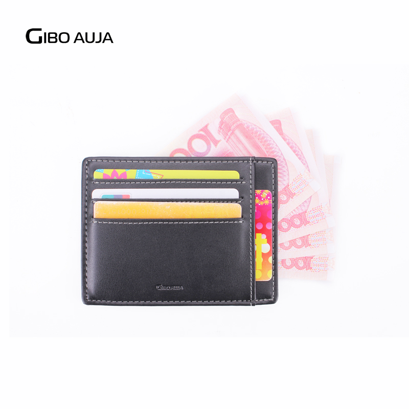 Gibo Auja - helt ny äkta läder plånbok super slim kort innehavare - Plånböcker - Foto 3