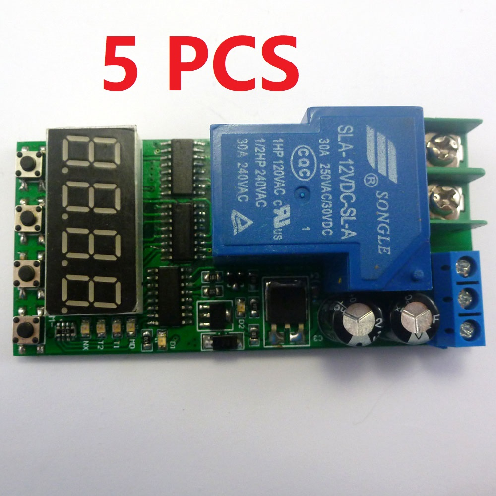 DC 3V-15V delay timer timing switch module 1sec~20hours1500mA for relay switc XE