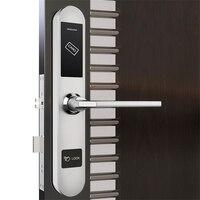 Hotel Door Lock System Stainless Steel Intelligent RFID Digital Card Key Unlock Gold/Silver Anti rust Anti corrosion Static