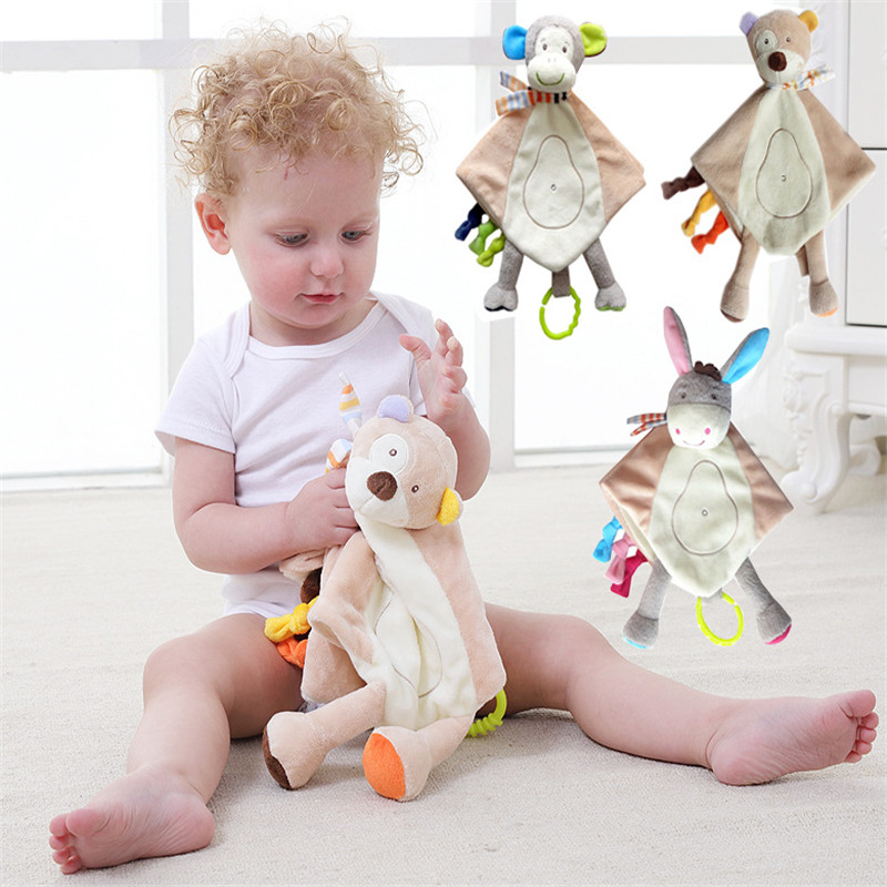 Newbron Plush Dolls Appease Towel Baby Rattles Pacify Cloak Deer Doll plush <font><b>Toys</b></font> for <font><b>New</b></font> <font><b>Born</b></font> Baby <font><b>Toys</b></font> 0-12Months image