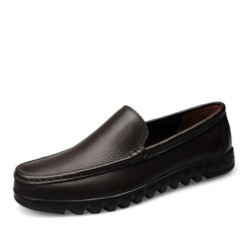 Formelles Chaussures Taille Cuir Robe 2019 Glissent Sur brown Respirant Doux Bussiness Black Noir Printemps Hommes Été Grand Clax En 5ExqSS