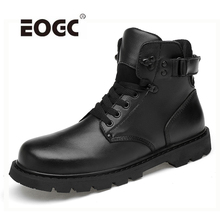 High Quality Genuine leather Men Boots Waterproof Autumn And Winter Shoes Warm With Fur Outdoor Ankle Snow Boots Shoes цена
