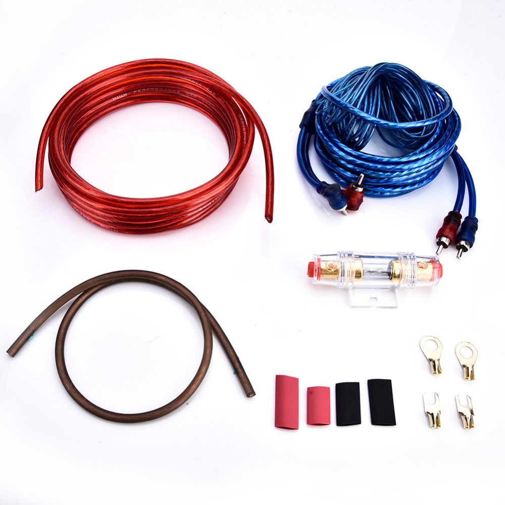 hight resolution of car audio subwoofer sub amplifier amp wiring kit car modification cable in cables adapters sockets from automobiles motorcycles on aliexpress com