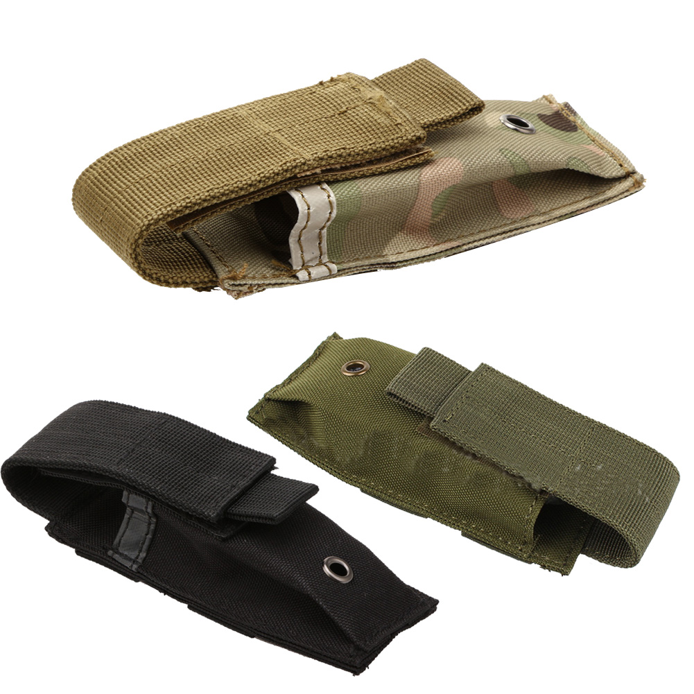 Military Molle Pouch Tactical Single Pistol Magazine Pouch Knife Flashlight Sheath Airsoft Hunting Ammo Camo Bags