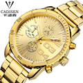 Luxury Brand Analog Display Date Men's Quartz Watch Casual Watch Men Waterproof Full Steel Gold Wristwatches relogio masculino