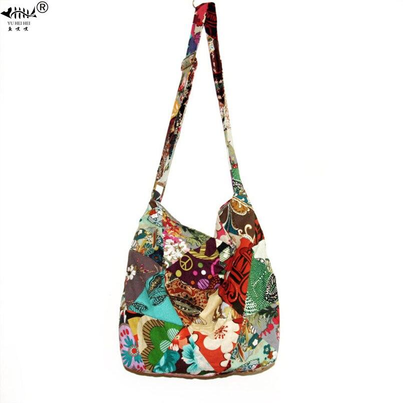Adjustable Strap Bag Seamless Patchwork Handmade Bohemian Bags Women Shoulder Crossbody Messenger Bag Womens Handbagsmessenger shoulder bagshoulder bagsbags free shipping -
